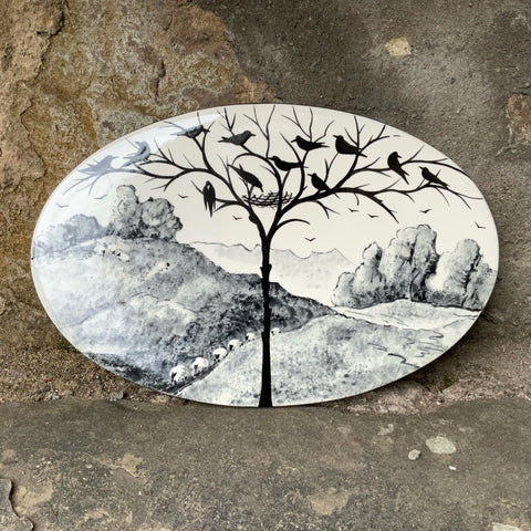 Earlshall Sheep Landscape Oval Wall Plaque