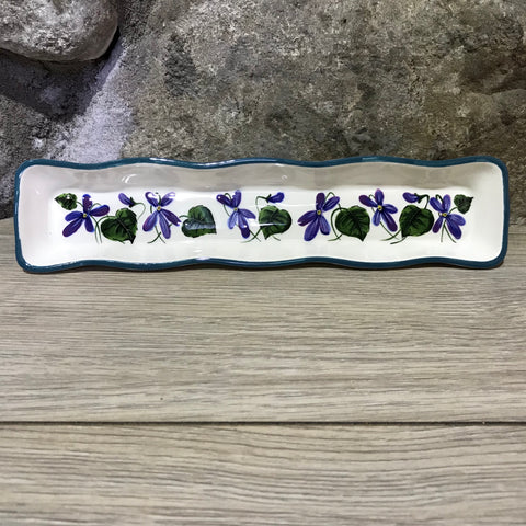 Violet Fluted Tray