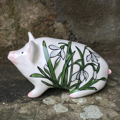 Stain Glass Snowdrop Small Pig
