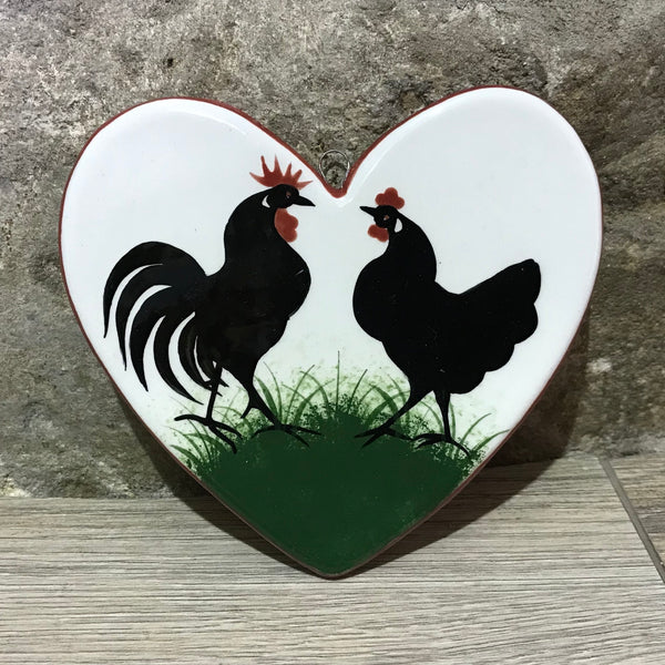 Cockerel Large Hanging Heart