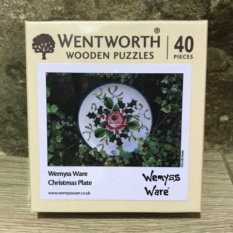 Christmas Plate Wemyss Ware Wentworth Wooden Jigsaw