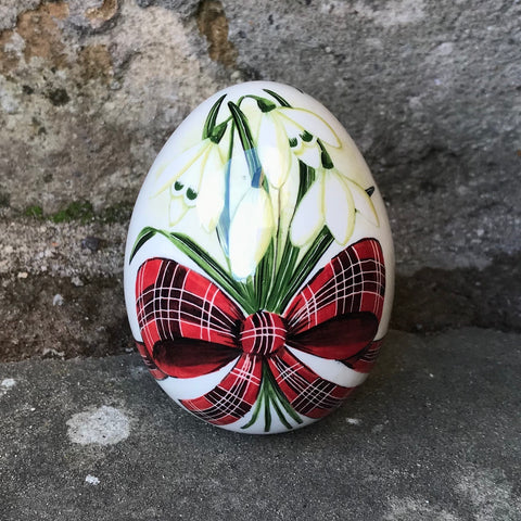 Tartan Snowdrop Medium Egg