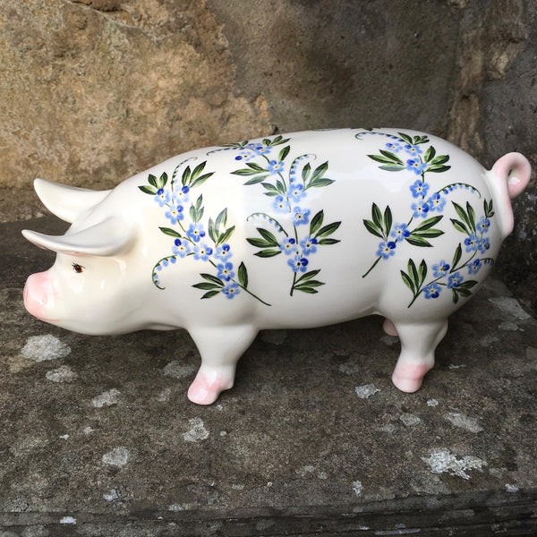 Forget Me Not Standing Pig