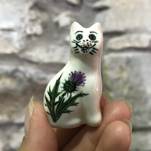 Thistle Cat Brooch