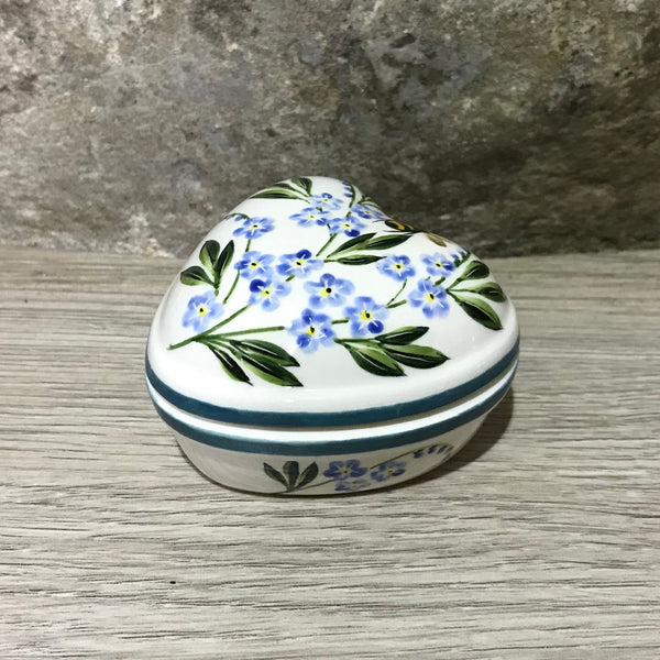 Forget Me Not with Bee Heart Trinket Box