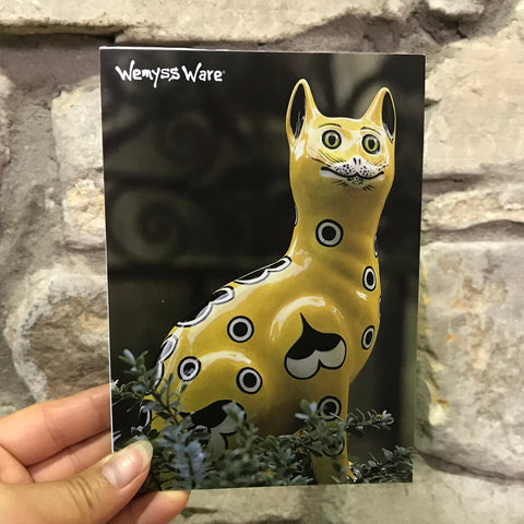 Yellow Gallé Cat Notepad