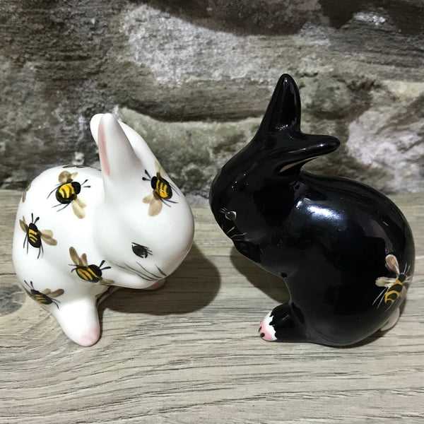 Black with Bee Tiny Rabbit