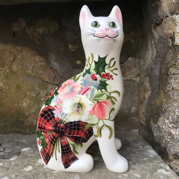Tartan Christmas Bouquet Large Cat
