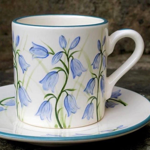 Scottish Bluebell Coffee Cup and Saucer