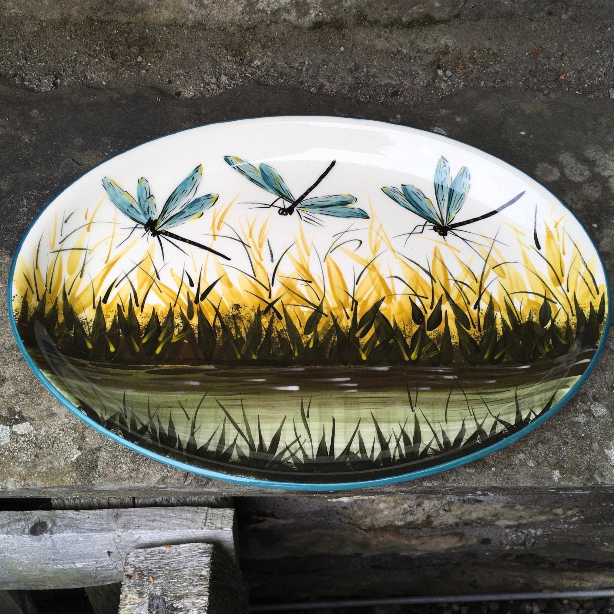 Special Dragonfly Oval Plate