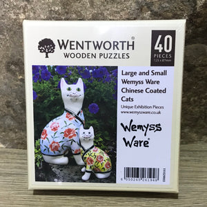 Chinese Coated Cats Wemyss Ware Wentworth Wooden Jigsaw