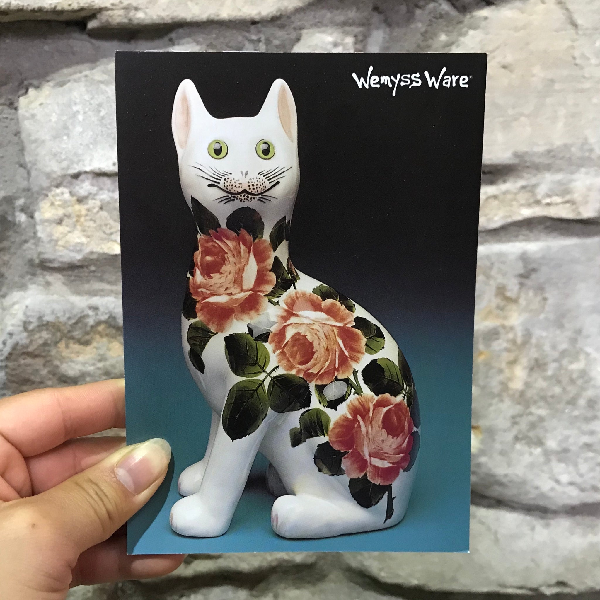 Cabbage Rose Cat Wemyss Ware A5 Notepad