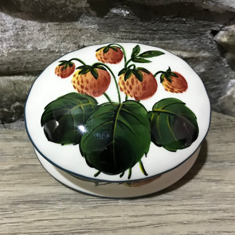 Strawberry Oval Small Trinket Box