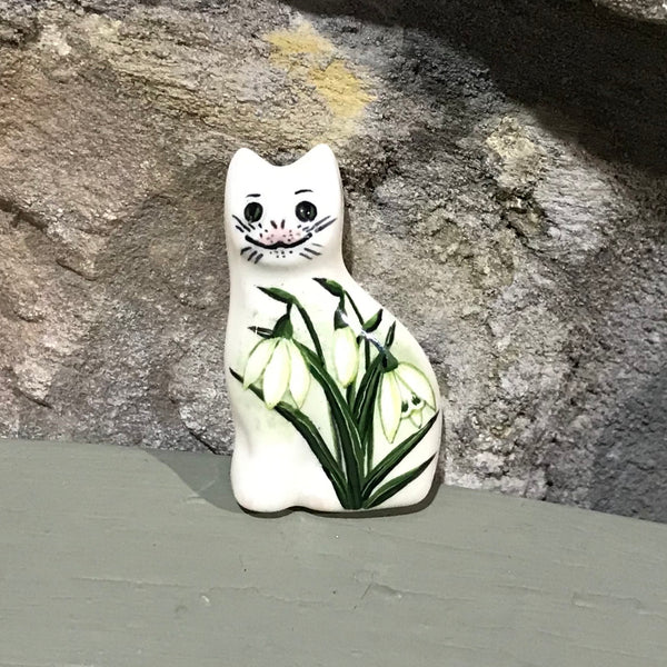 Snowdrop Cat Brooch