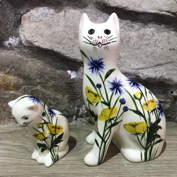 Buttercup and Cornflower Small Thinking Cat