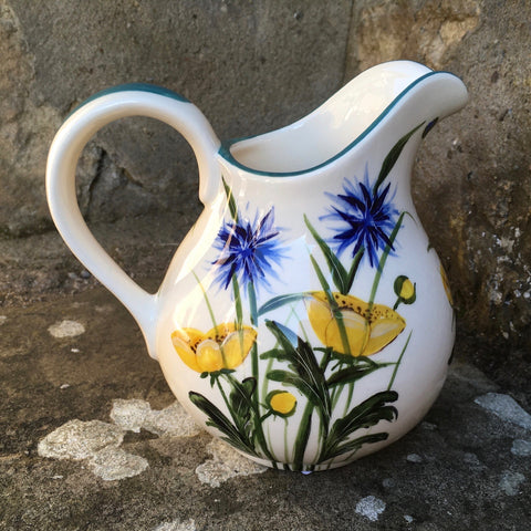 Buttercup and Cornflower Small Round Jug