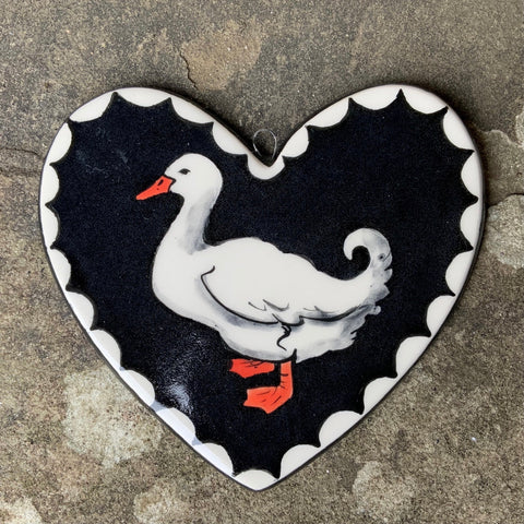 Duck Large Hanging Heart