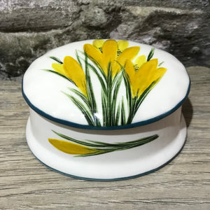 Crocus Small Oval Trinket Box