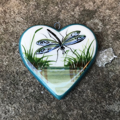 Dragonfly Heart Pendant