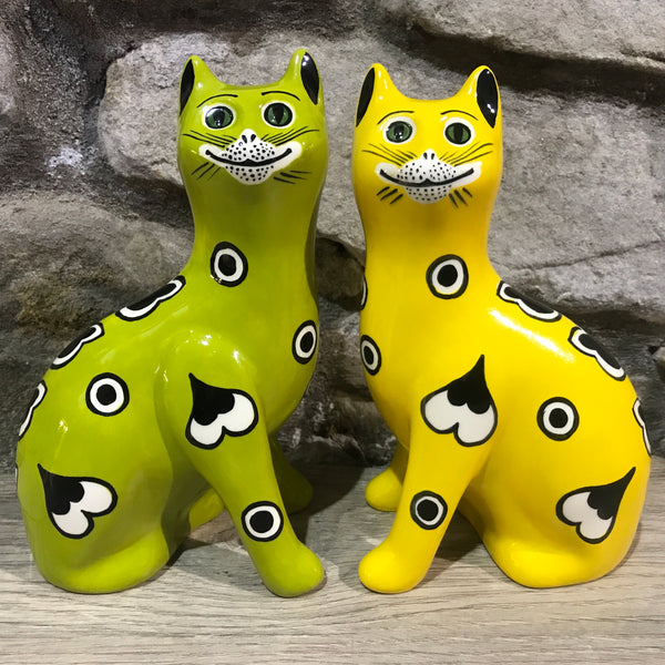 Lime Green Gallé Small Cat