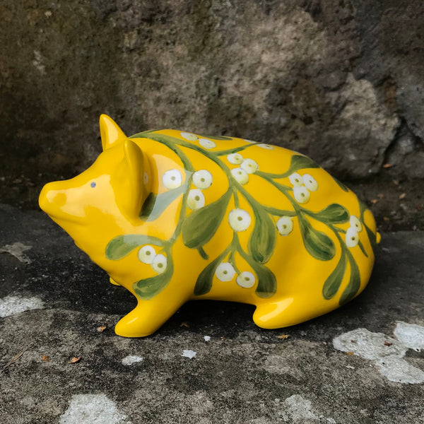 Mistletoe Yellow Small Pig