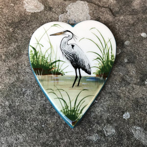Heron Small Hanging Heart