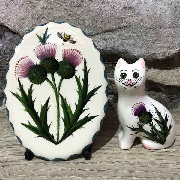 Thistle Small Oval Plaque