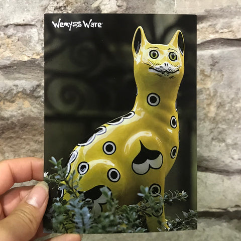 Yellow Gallé Cat Postcard