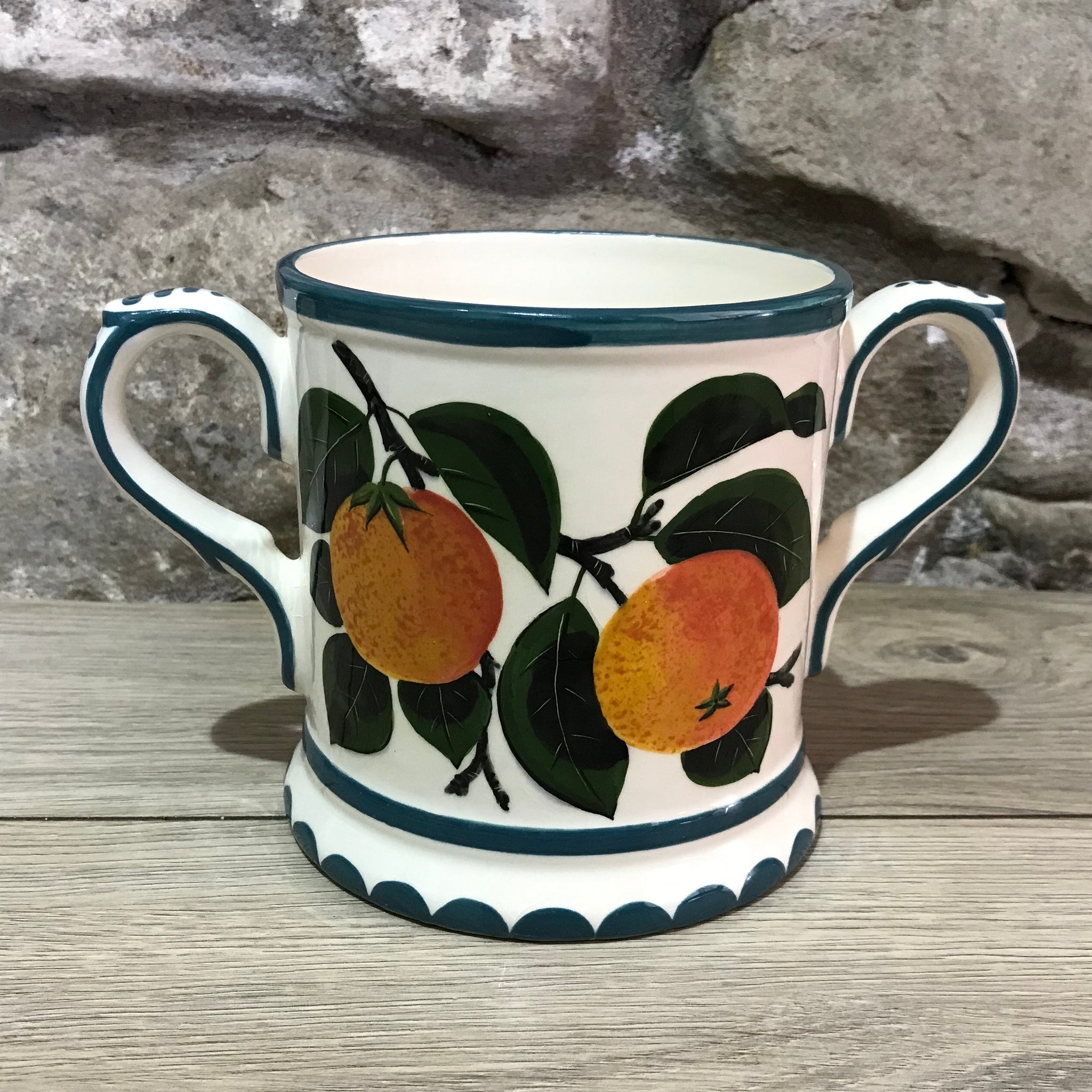 Orange 2-Handled Loving Cup