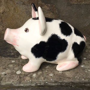 Black and White Medium Pig