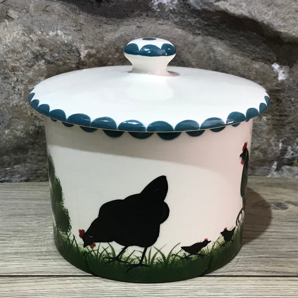 Cockerel Biscuit Barrel