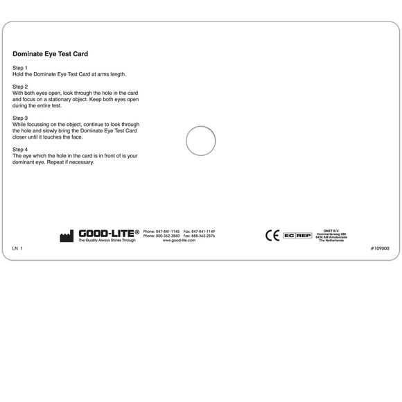 Dominant Eye Test Card