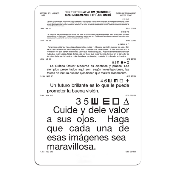 Spanish Near Point Card
