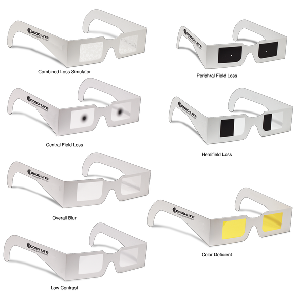 VisualEyes Vision Simulator Glasses - Combined Loss