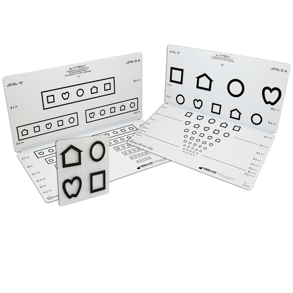 LEA SYMBOLS<sup>®</sup> 10-Line Folding Pediatric Eye Chart