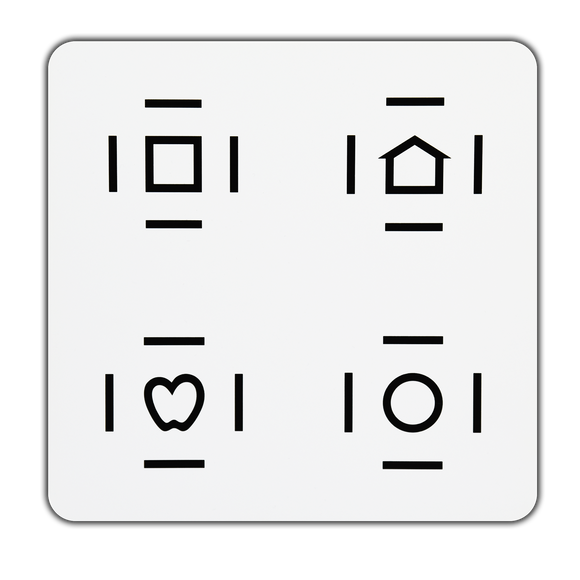 Crowded LEA SYMBOLS<sup>®</sup> Response Panel