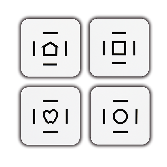 Crowded LEA SYMBOLS<sup>®</sup> Flash Cards