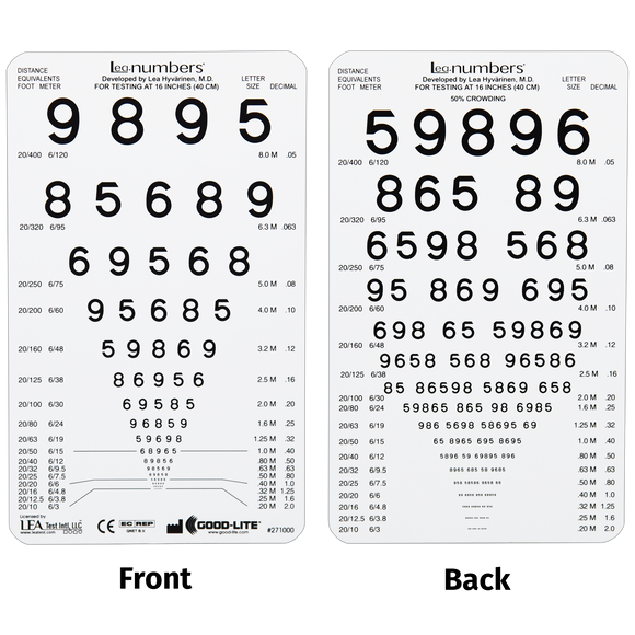 LEA NUMBERS<sup>®</sup> Pocket-Sized Near Cards