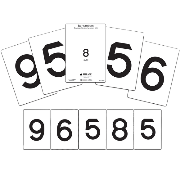 LEA NUMBERS® Cards, 40M and 60M