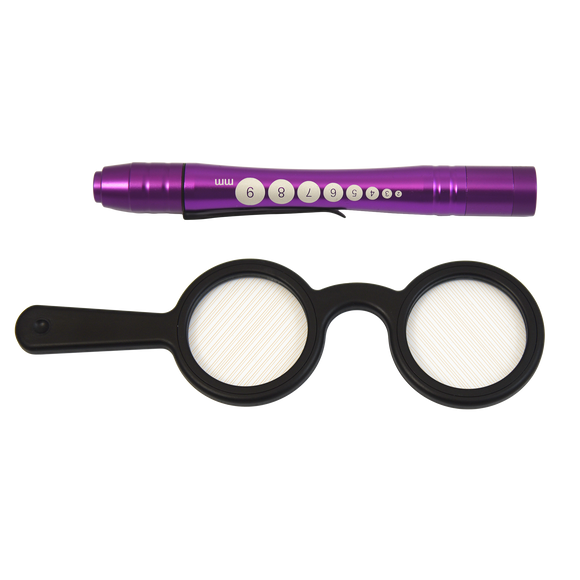 Handheld Bagolini Striated Lens Set with Penlights