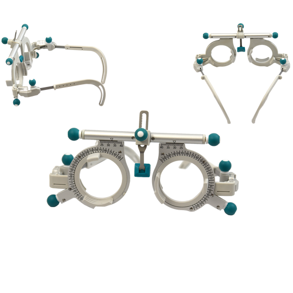 Deluxe Adjustable Trial Frame - Silver & Teal