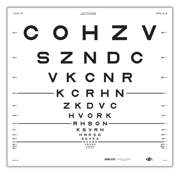 ETDRS, 2000 Series Chart 1 Eye Chart