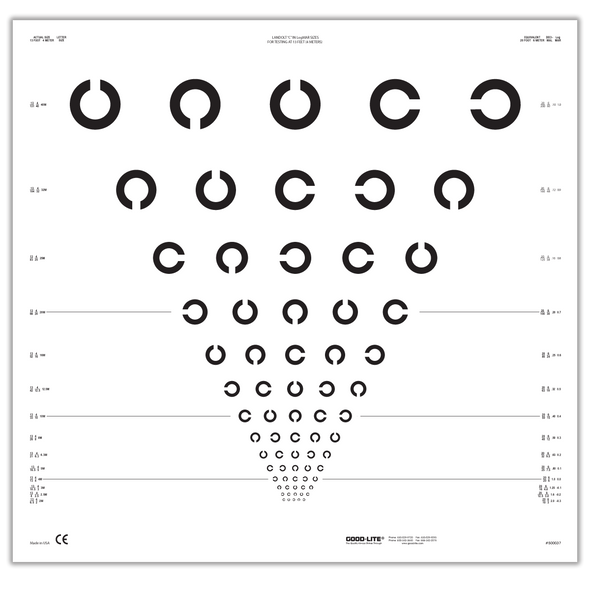 E and C Charts, ETDRS, Translucent Distance Charts