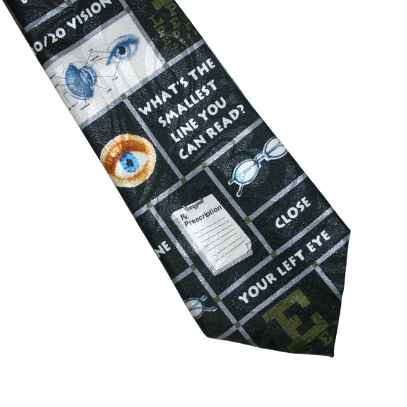 Eye Exam Phrase Necktie