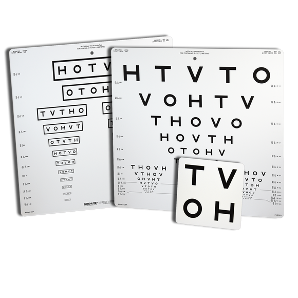 HOTV Pediatric Eye Chart for the Wall