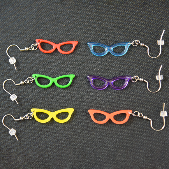Cat Eye Glasses Earrings