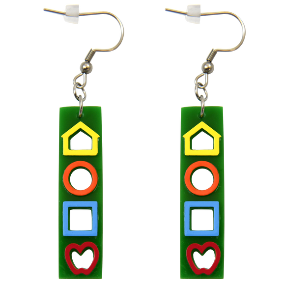 Vertical LEA SYMBOLS<sup>®</sup> Earrings