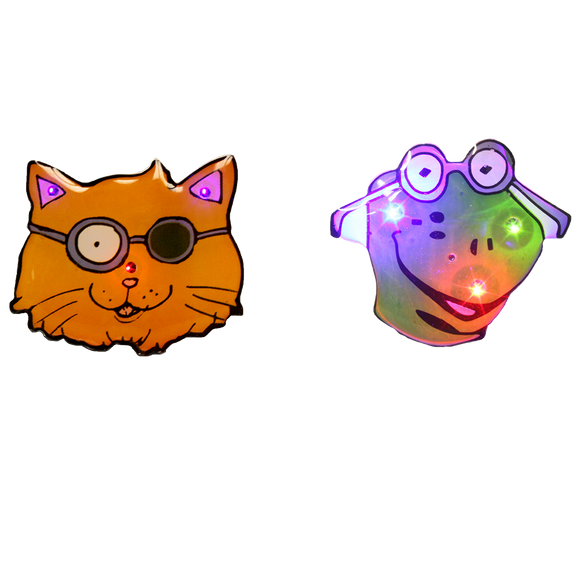 Patch Cat and Mr. Frog Flashing Lights