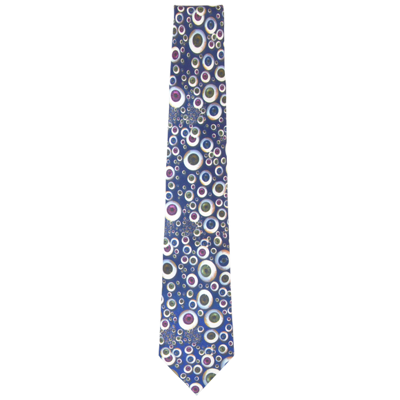 Eye Balls on Purple Necktie