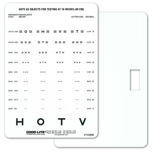 HOTV Crowded Near Vision Card